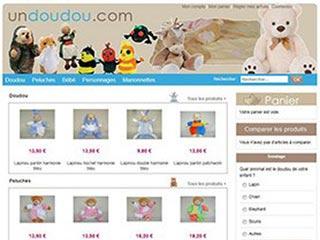 Un doudou, boutique en ligne de peluches et doudous