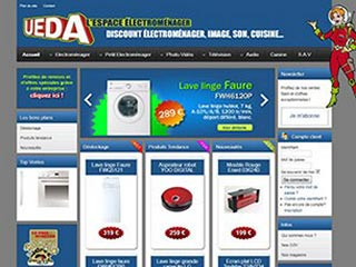 UEDA, vente électroménager discount et cuisines.