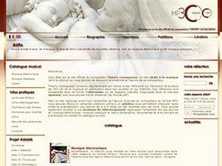 MP3-creation, catalogue du compositeur Thierry Cassagneau