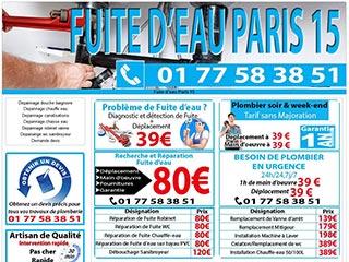 Des experts sur Paris 15 pour vos problèmes de fuite d'eau