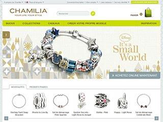 Chamilia, vente en ligne de bijoux personnalisés