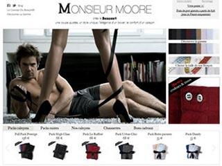 Monsieur Moore, vente de sous-vêtement pour homme