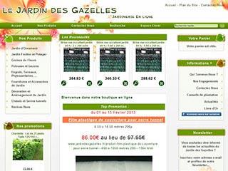 Jardin des Gazelles, votre jardinerie en ligne
