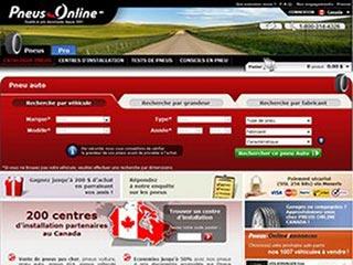 Pneus Online Canada, vente de pneus neufs