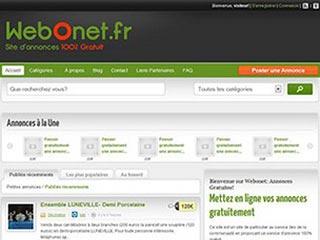 Webonet: Petites Annonces francophones Gratuites