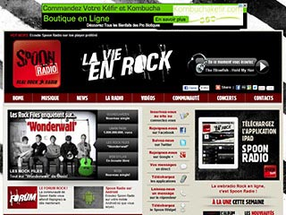 Webradio. Radio spoonradio.com. fans de rock