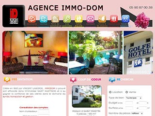 Immodom : Agence immobilière St Martin. Antilles