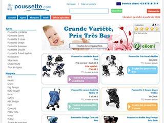 Poussette.com, large choix de produit à petit prix