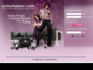 Surinvitation, les ventes privees discount