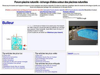 Piscine naturelle forum