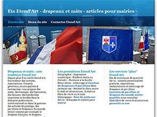 Etablissements etend'arts, drapeaux et mats