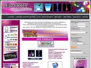 Led-party, objets de décoration Led