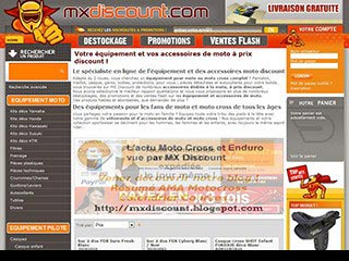 MX Discount, large choix d'équipements moto