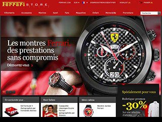 Ferrari Store, le magasin web officiel