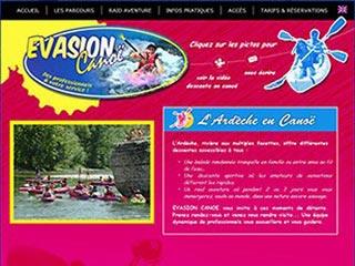 Evasion Canoë, location canoë kayak en ardèche