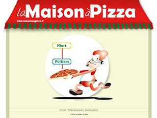La Maison à Pizza, livraison de pizzas à Poitiers et Niort