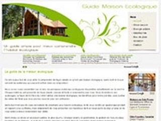 Guide maison ecologique, comprendre l'éco construction.