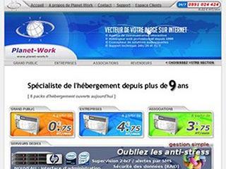 Planet-Work : Hebergeur de site internet