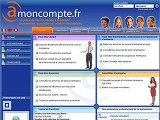 Amoncompte : Transmission, acquisition et création d'entreprises