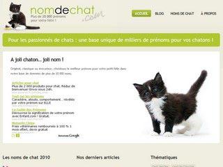 Nom et prénom de chat