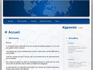 Kgpoesie, site d'écrivain de poésie