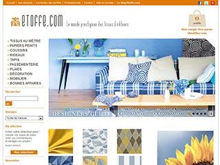 Etoffe.com : Tissus de luxe et papiers peints design