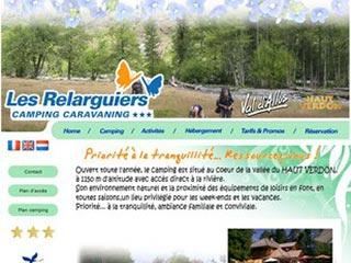 Les Relarguiers, camping dans la vallée du Haut Verdon