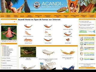 Acandi, vente de hamac sur Internet