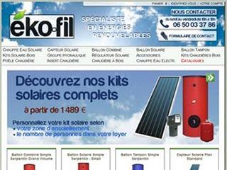 Eko-Fil, chauffage solaire et bois
