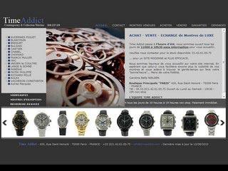 TimeAddict, montres d' occasion