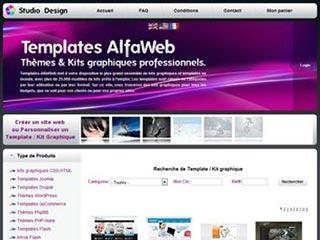 Templates AlfaWeb : Kits graphiques professionnels