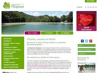 Le Domaine de L'Espinet, votre village vacances à Quillan.