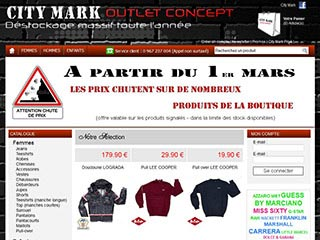 City Mark, destockage massif de grandes marques discount