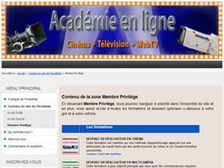 École de cours et formations en ligne en cinéma et télévision