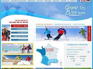 Grand Bleu Vacances, réservations de résidences