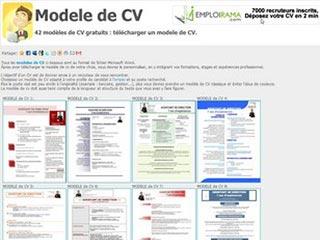 Modele de CV, pour ceux qui ont du mal avec leur CV