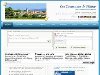 Villes et communes de France