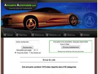 Annuaire site automobile, tous les sites autos