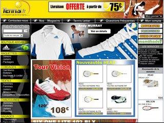 Tennis FR : Vente en ligne de materiel de tennis