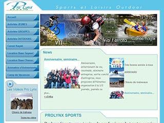 Prolynx Sports, activités sportives de plein air