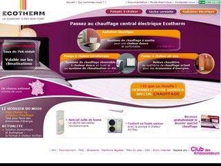 Ecotherm, spécialiste du chauffage économique