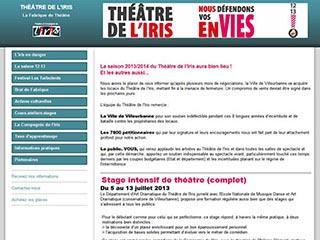Théâtre de l'Iris : Cours theatre Lyon