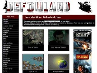 Defouland, jeux d'action et d'arcade