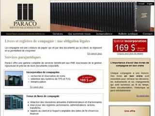 Paraco, immatriculation d'entreprise