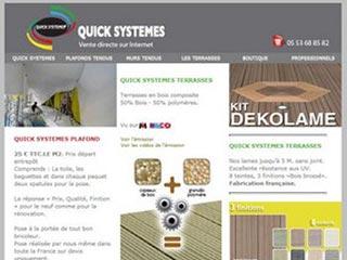 Quick Systemes, kits plafonds tendus prêts à poser