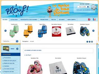 Plouf, maillot de bain flottant pour enfant