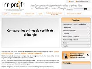 Nr-pro: outil de comparaison des primes énergie