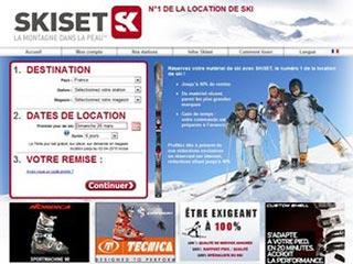 Skiset, louez vos skis en ligne !