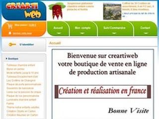 Creartiweb, boutique de produit artisanal