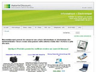Materiel Discount, comparateur de prix